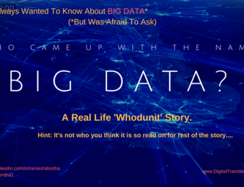 Who Came Up With The Name Big Data?